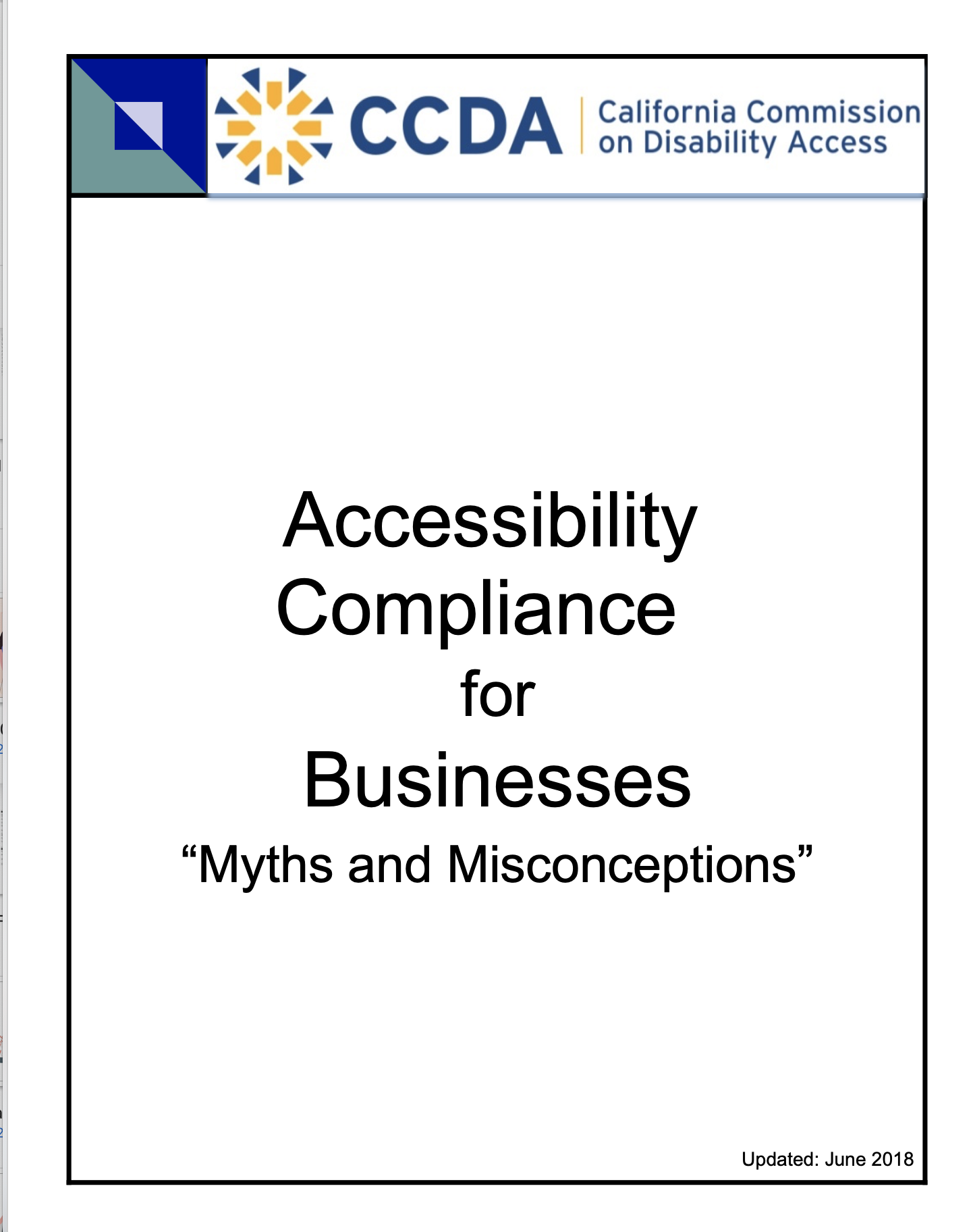 ADA FOR BUSINESSES MYTHS